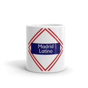 Taza Blanca con el logotipo de Madrid Latino
